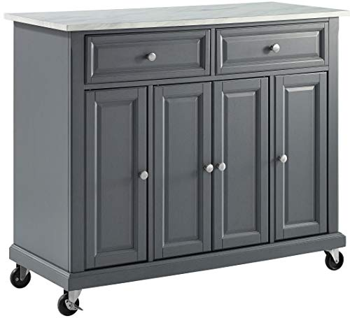 Crosley Furniture Avery Kitchen Island With Paper Marble Top Gray 0