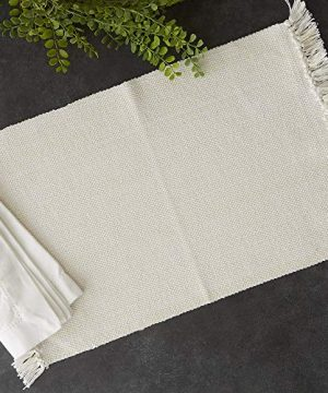 DII Variegated Tabletop Placemat Set Off White 6 Count 0 1 300x360