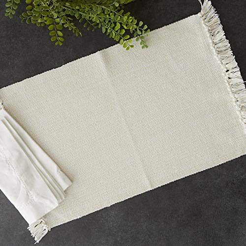 DII Variegated Tabletop Placemat Set Off White 6 Count 0 1