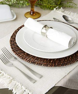 DII Variegated Tabletop Placemat Set Off White 6 Count 0 2 300x360