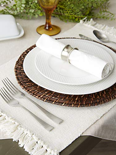 DII Variegated Tabletop Placemat Set Off White 6 Count 0 2