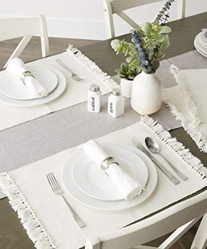 DII Variegated Tabletop Placemat Set Off White 6 Count 0 3 300x360