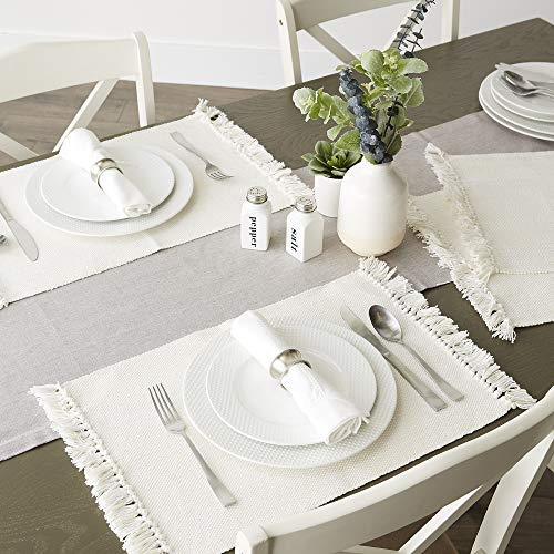 DII Variegated Tabletop Placemat Set Off White 6 Count 0 3