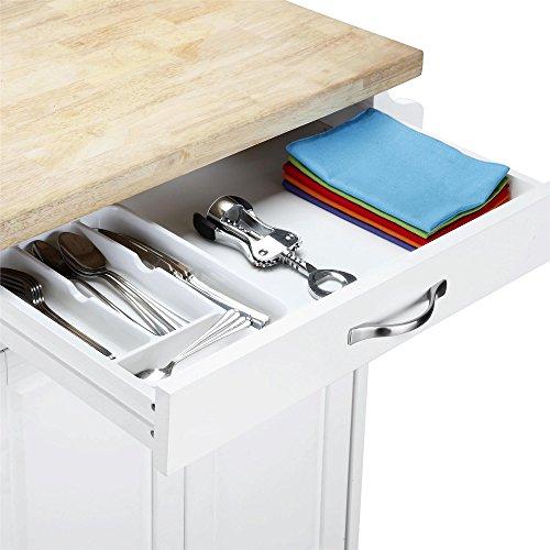 Dorel Living Kitchen Island White 0 3