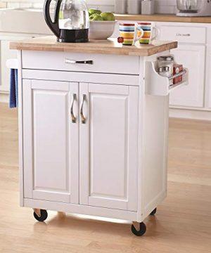 Dorel Living Kitchen Island White 0 300x360
