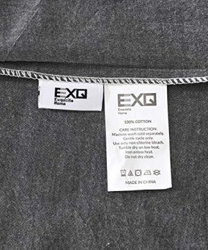 EXQ Home 100 Washed Cotton Grey Duvet Cover Set Twin Size 2 Pcs Super Soft Bedding Vintage Comforter Cover With Button Closure Hypoallergenic Breathable 0 5 300x360