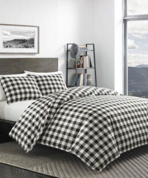 Eddie Bauer Mountain Collection 100 Cotton Soft Cozy Premium Quality Plaid Comforter With Matching Shams 3 Piece Bedding Set FullQueen Black 0 0 300x360