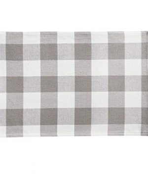 Elrene Home Fashions Farmhouse Living Buffalo Check Placemat Set Of 4 13 X 19 GrayWhite 4 0 2 300x360