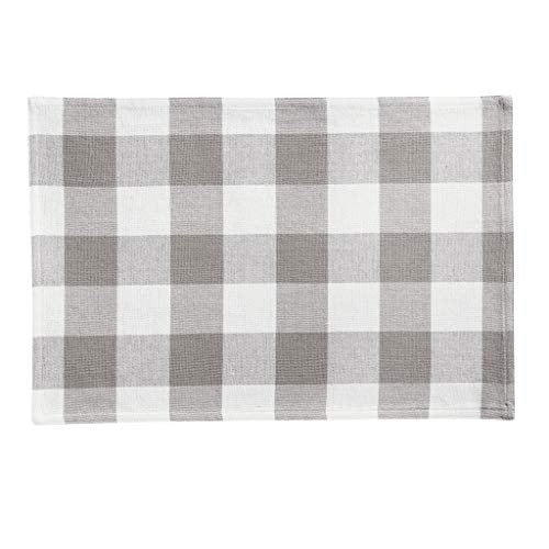 Elrene Home Fashions Farmhouse Living Buffalo Check Placemat Set Of 4 13 X 19 GrayWhite 4 0 2