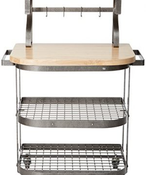 Enclume Bakers Cart With Ash Butcher Block Hammered Steel 0 0 300x360