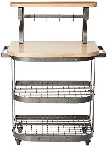 Enclume Bakers Cart With Ash Butcher Block Hammered Steel 0 0