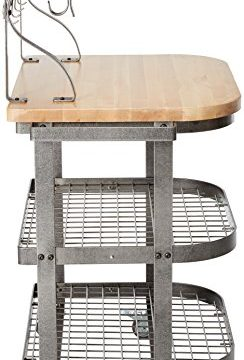 Enclume Bakers Cart With Ash Butcher Block Hammered Steel 0 1 244x360