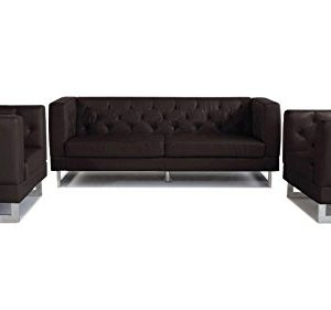 Espresso Zeta Tufted Sofa Set With Armchairs 0 300x281