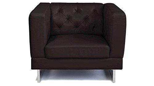 Espresso Zeta Tufted Sofa Set With Armchairs 0 4
