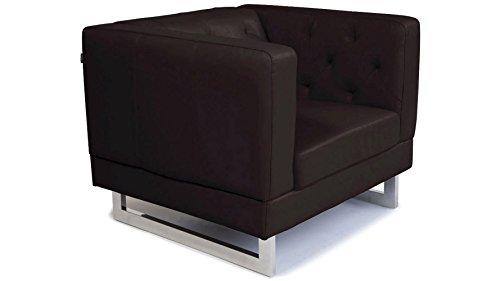 Espresso Zeta Tufted Sofa Set With Armchairs 0 5