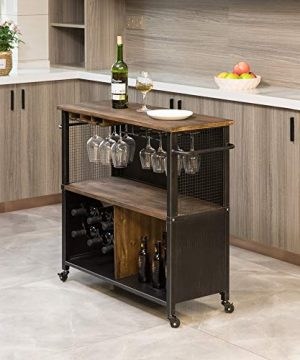 FirsTime Co Chandler Farmhouse Kitchen Cart American Crafted Brown 315 X 12 X 315 70124 0 300x360