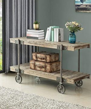 FirsTime Co Oxford Farmhouse Factory Cart Console Table American Crafted Weathered Brown 50 X 215 X 30 70186 0 300x360