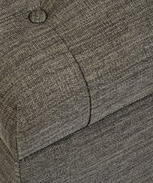 First Hill Grey 5th Ave Modern Charcoal Linen Upholstered Storage Ottoman GRAY 0 1 300x360