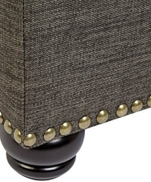 First Hill Grey 5th Ave Modern Charcoal Linen Upholstered Storage Ottoman GRAY 0 2 300x360