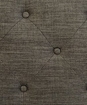 First Hill Grey 5th Ave Modern Charcoal Linen Upholstered Storage Ottoman GRAY 0 3 300x360