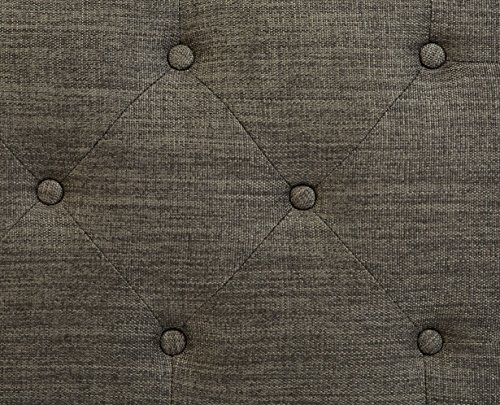 First Hill Grey 5th Ave Modern Charcoal Linen Upholstered Storage Ottoman GRAY 0 3