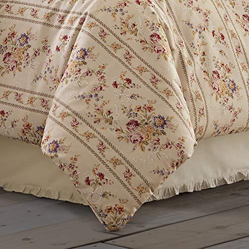 Five Queens Court Simone 100 Cotton Ditsy Floral Vintage Farmhouse 4 Piece Comforter Set Linen Cal King 110x96 0 0