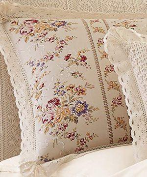 Five Queens Court Simone 100 Cotton Ditsy Floral Vintage Farmhouse 4 Piece Comforter Set Linen Cal King 110x96 0 1 300x360