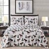 Great Bay Home Lodge Bedspread Twin Size Quilt With 1 Sham Cabin 2 Piece Reversible All Season Quilt Set Rustic Quilt Coverlet Bed Set Wilderness Collection Moose Chocolate 0 100x100