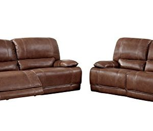HOMES Inside Out Bushnell Sofa Set Brown 0 300x256