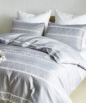 HYPREST Bohemian Twin Duvet Cover Set Lightweight Soft Grey Comforter Cover Set Hotel Quality 0 0 300x360