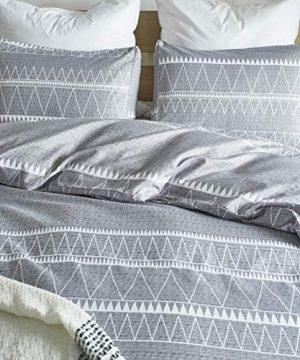 HYPREST Bohemian Twin Duvet Cover Set Lightweight Soft Grey Comforter Cover Set Hotel Quality 0 1 300x360
