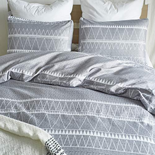 HYPREST Bohemian Twin Duvet Cover Set Lightweight Soft Grey Comforter Cover Set Hotel Quality 0 1
