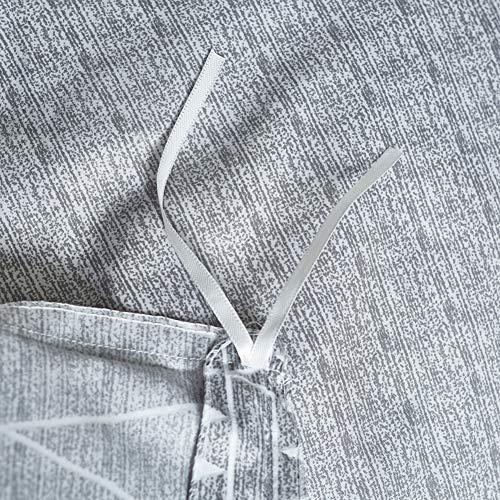 HYPREST Bohemian Twin Duvet Cover Set Lightweight Soft Grey Comforter Cover Set Hotel Quality 0 3