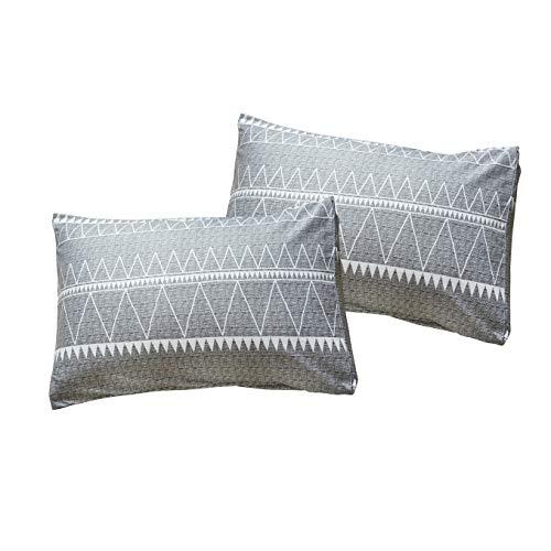 HYPREST Bohemian Twin Duvet Cover Set Lightweight Soft Grey Comforter Cover Set Hotel Quality 0 5