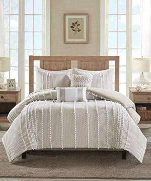 Harbor House Anslee Comforter Set FullQueen92x96 Pom Pom Taupe 0 300x360