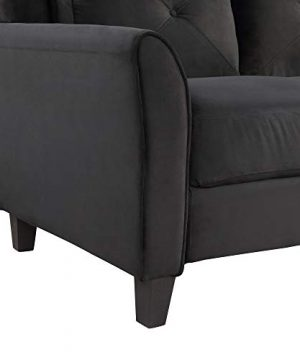 Harper Bright Designs Living Room 3 Piece Sofa Couch Set3 Seats Loveseat Single Chair Sectional Sofa Set Black 0 2 300x360