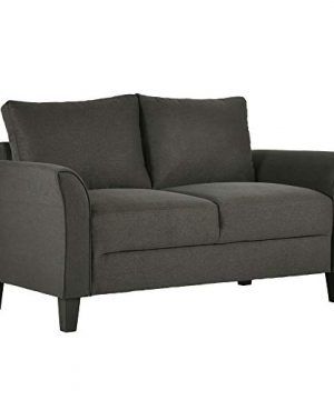 Harper Bright Designs Living Room Furniture Set Of 3 Small Armrest Chair Loveseat 3 Seat Sofa Couch Set Dark Grey 0 2 300x360