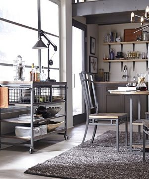 Home Styles Barnside Metro Contemporary Mixed Media Metal And Wood Kitchen Cart With Heavy Duty Casters 0 0 300x360
