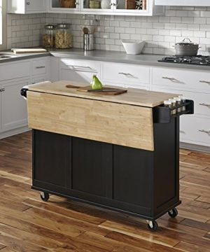 Home Styles Liberty Kitchen Cart With Wood Top Black 0 1 300x360