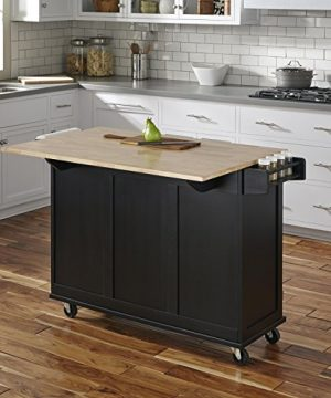 Home Styles Liberty Kitchen Cart With Wood Top Black 0 2 300x360