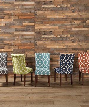 HomePop Parsons Classic Upholstered Accent Dining Chair Set Of 2 Navy And Cream Geometric 0 2 300x360