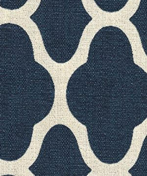 HomePop Parsons Classic Upholstered Accent Dining Chair Set Of 2 Navy And Cream Geometric 0 3 300x360