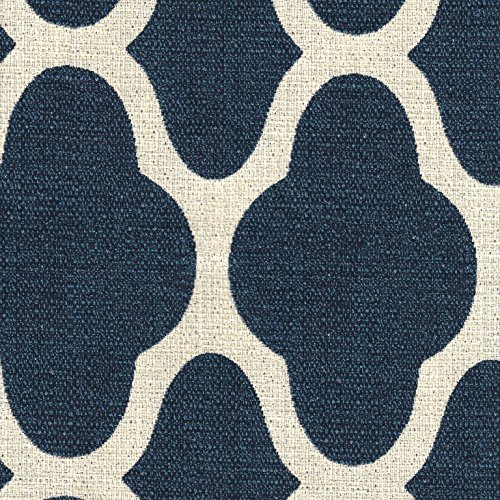 HomePop Parsons Classic Upholstered Accent Dining Chair Set Of 2 Navy And Cream Geometric 0 3