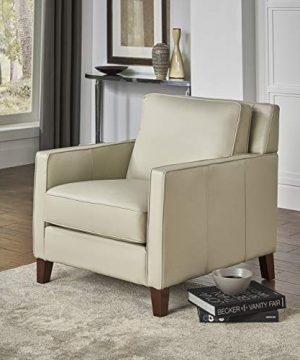 Hydeline Ashby 100 Leather Sofa Set Sofa Loveseat Chair Ice 0 2 300x360