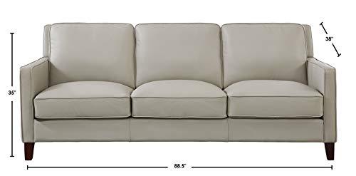 Hydeline Ashby 100 Leather Sofa Set Sofa Loveseat Chair Ice 0 3