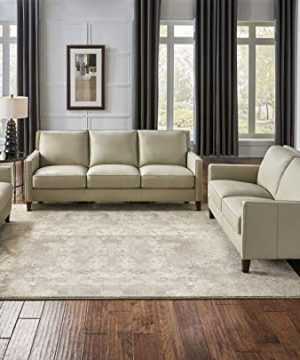 Hydeline Ashby 100 Leather Sofa Set Sofa Loveseat Chair Ice 0 300x360