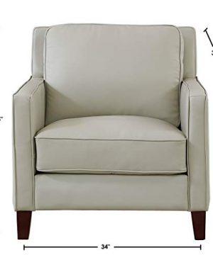 Hydeline Ashby 100 Leather Sofa Set Sofa Loveseat Chair Ice 0 5 300x360