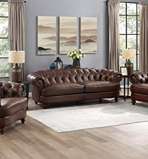 Hydeline Newport 100 Leather Set Sofa Chair And Chair Brown 0 300x323