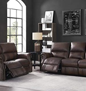 Hydeline Raymond Power Leather Reclining Sofa Set Brown Sofa Loveseat 0 300x319