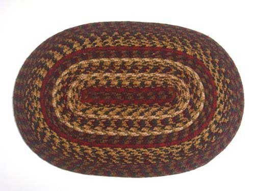 IHF Home Decor Cinnamon Braided Rug 20 X 30 To 8x10 Oval Accent Floor Carpet Natural Jute Material Doormat Wine Gold Sage Woven Collection Placemats 0